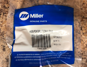 Miller 171007 KNOB,POINTER 1.670 DIA X .250 ID W//SET SCREWS REPLACES 097924