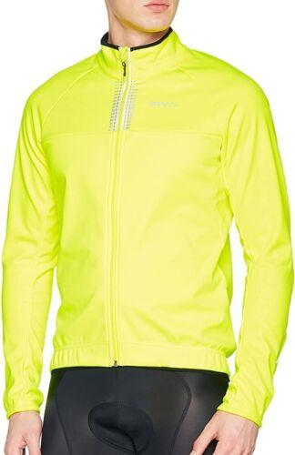 Craft Bike Rime Waterproof Mens Cycling Jacket Yellow Softshell 360 Visibility