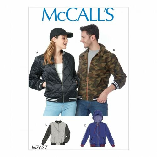 Hoodies XM SML-MED-LRG McCalls Sewing Pattern 7637 Jackets