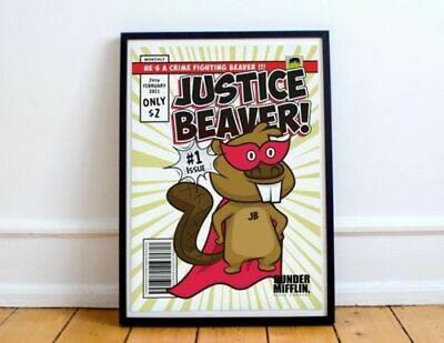 Superhero Comic Office TV Show No Frame Justice Beaver The Office Poster