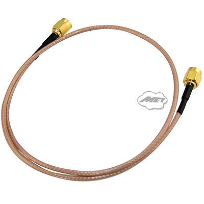 50cm RF Jumper Pigtail Coaxial Cable RP-SMA Male to RP SMA Male Extension RG316