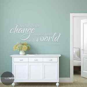 Gandhi Be The Change You Wish To See In The World Vinyl Wall Decal Sticker Ebay
