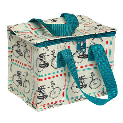 dotcomgiftshop VINTAGE BICYCLE RECYCLED PLASTIC INSULATED COOL WARM LUNCH BAG