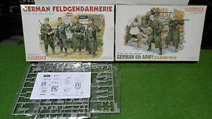 lot-2-MAQUETTE-GERMAN-6TH-ARMY-amp-FELDGENDARMERIE-militaire-1-35-DRAGON-plastique