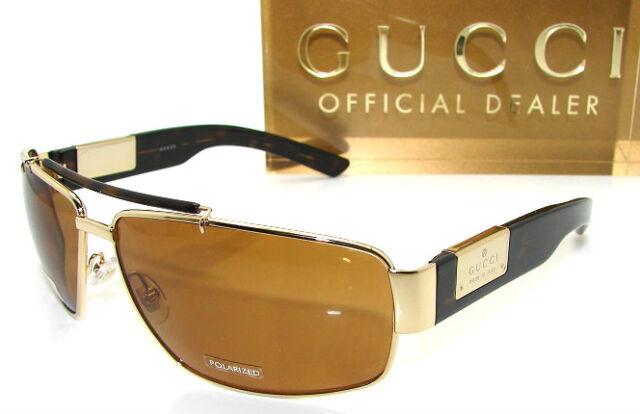 4e2a965c2e40 Authentic GUCCI Polarized Gold Sunglass GG 1856 - RERQQ  NEW