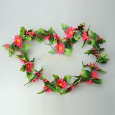 Artificial Daisy Leaf Garland Plants Vine Fake Foliage Flowers Home Decor Silk