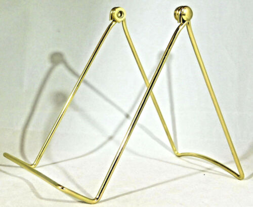 Fossils /& More! One Large Sized Gold Colored EASEL Display Stand for Plates