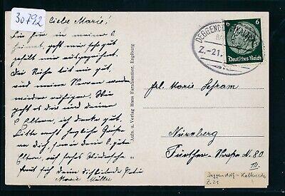 30792) Bahnpost Ovalstempel Deggendorf - Kalteneck Z.21, Karte Um 1935/40 GroßE Sorten