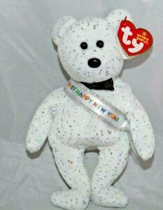 Ty Beanie Babies Bear Happy New Year 2007