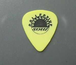 Collective Soul guitar pick authentic touring pick black on yellow logo !