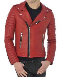 Outwear Slim Chaqueta Fit Cafe 317 Hombres Red cuero Lambskin S de Motocicleta Biker wx8ZqHU