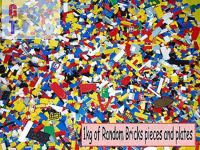 Lego 1kg Assorted Bricks, Parts and Pieces - Starter Set - Bulk Genuine Clean