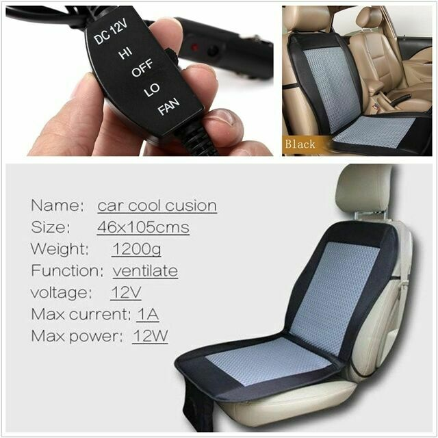 12v Cooling Car Seat Cushion Cover Air, Best Car Seat Cooling Pad
