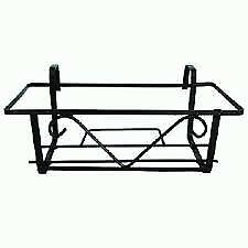 Fioriera Balconetta Portafiori Per Balcone 28x60x18 Cm Ferro Verniciato