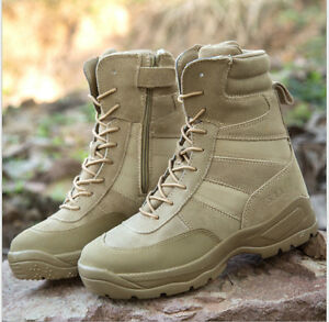 Men-039-s-High-Top-Ankle-Boots-Combat-Shoes-Desert-Army-Hiking-Tactical-Patrol-New