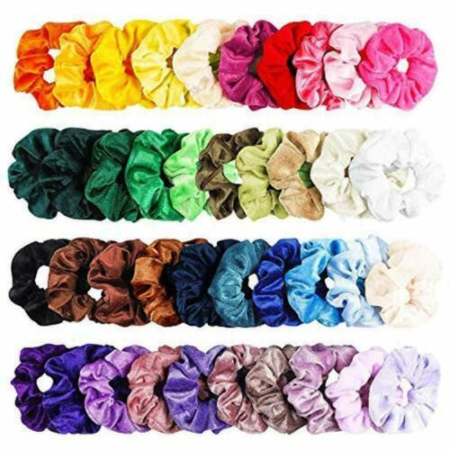 10Pcs Velvet Elastic Hair Scrunchies Hair Bands Scrunchy Hair Band Hair Ties Lot