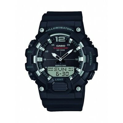 Casio Herrenuhr Uhr Alarm Datenbank Schwarz 10 BAR HDC-700-1AVEF