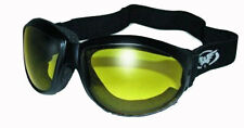 GLOBAL ELIMINATOR SUN GLASSES JET SKI  GOGGLES  WITH FOAM  w/ UV400 Yellow Lens