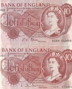 1960-039-s-Bank-of-England-dieci-SHILLING-nota-molto-buona-CIRC-ma-Crisp-100-AUTENTICO