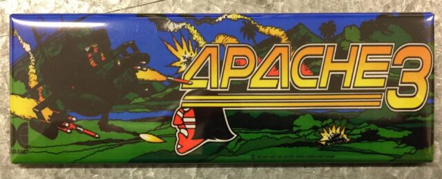 Apache 3 Arcade Game Marquee Fridge Magnet