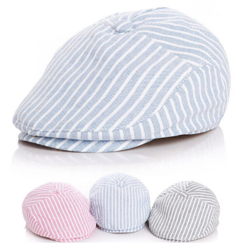 Baby Sun Hat Cap Summer Stripe Pattern Berets Hats For Boy Girl Toddler LH