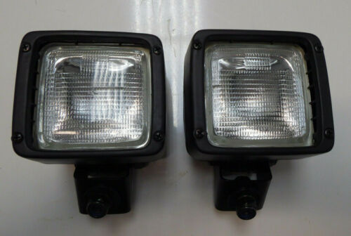 A PAIR OF TOUGH ADJUSTABLE UNIVERSAL TRACTOR MOUNTED WORK LIGHTS