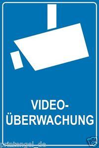 schild aufkleber video berwachung video berwacht video. Black Bedroom Furniture Sets. Home Design Ideas