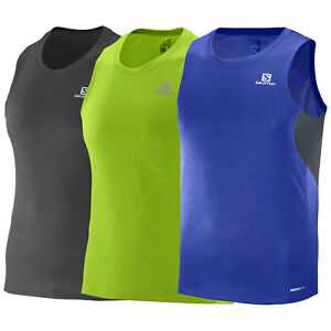 acedc6525669dd Salomon Agile TANK M Men s Running Shirt Top Breathable Sports ...
