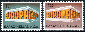 Greece 947-948, MNH. EUROPA CEPT. 10th anniversary, 1969