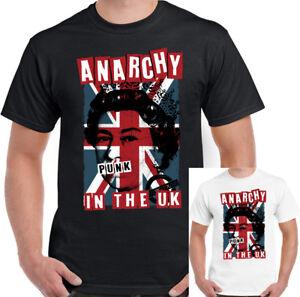 Anarchy-in-The-UK-Mens-Punk-Rock-T-Shirt-Sex-Pistols-Skinhead-Union-Jack-Clash
