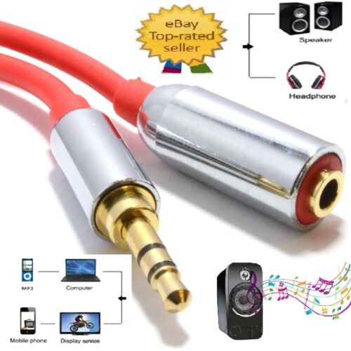 3.5mm extension Male to Female Jack Stero Plug cable Headphone Car Speaker Phone