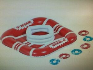 WATER-GAME-Splash-039-n-Score-Washer-Ring-Toss-Inflatable-Pool-Glows-in-the-dark