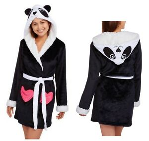 Body Candy Plush Robe Ladies Girls Luxe Panda w Hood Huggable ... 2abdb16f7