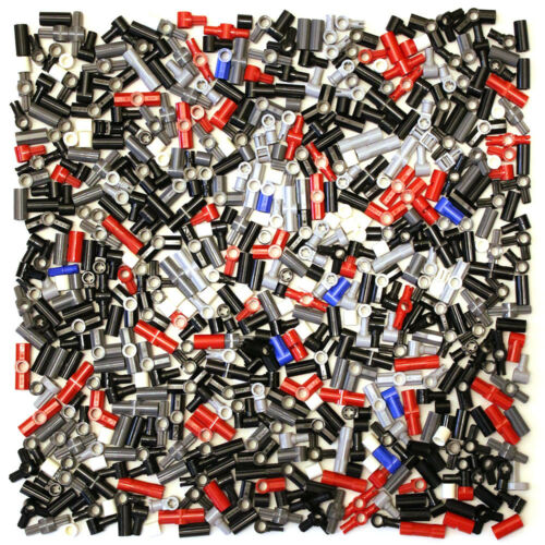 NEW Lego Technic Connector Joint Coupler 550 Parts Black Red Grey Yellow Blue