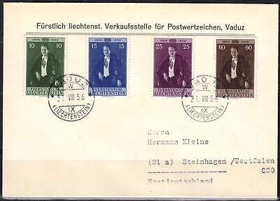 Liechtenstein Liechtenstein Minr 348/51 Auf Fdc Fürst Franz Josef Ii.