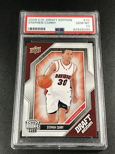 STEPHEN CURRY 2009 UPPER DECK #34 DRAFT EDITION ROOKIE RC PSA 10