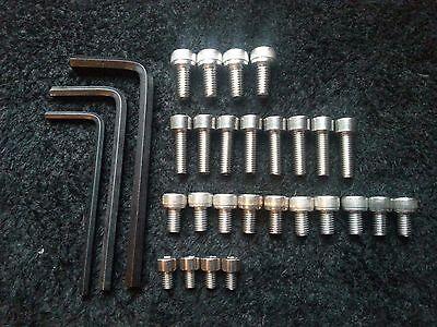 YAMAHA XV 750 VIRAGO 1988-1999 full engine stainless allen screw kit 1+2+3 XV750
