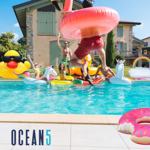 Ocean5 XXL Bade-Inseln und Schwimm-Tiere, Jumbo Luft-Matratzen in tollen Desings