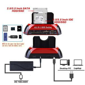 Dual-2-5-034-3-5-034-SATA-IDE-HDD-Docking-Station-Hard-Disk-Drive-Dock-OTB-Card-Reader
