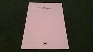 August-1984-VW-GOLF-CONVERTIBLE-75-90-112-BHP-ENGLISH-DATA-amp-EQUIPMENT-BROCHURE