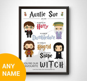 PERSONALISED Harry Potter Print Gift Keepsake Birthday