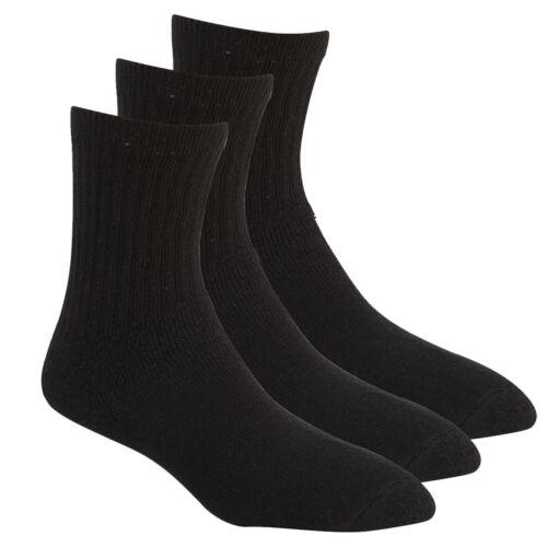 Boys Girls Kids Sports Plain Socks Ankle School Cotton Rich Children 3 Pack