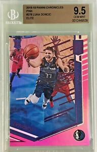 Luka-Doncic-2018-19-Panini-Chronicles-Elite-Pink-Rookie-BGS-9-5-Gem-Mint