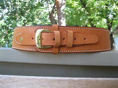 ".45 Caliber Brown Leather Cartridge Gun Belt 34/"" to 52/"""