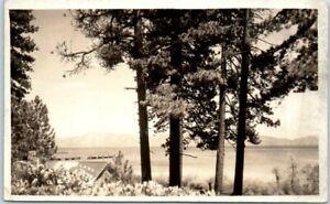 Lake-Tahoe-Nevada-Calif-RPPC-Photo-Postcard-Panorama-View-c1930s-w-Message