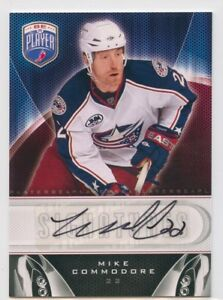 09-10-BE-A-PLAYER-BAP-SIGNATURE-AUTOGRAPH-AUTO-MIKE-COMMODORE-BLUE-JACKETS-50398