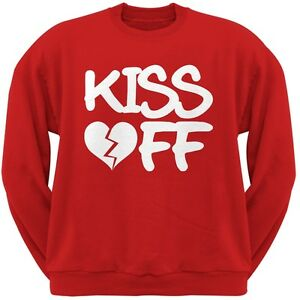 Kiss Sweatshirt Crew Neck Red Valentine's Adult Day Off axwfqzHP