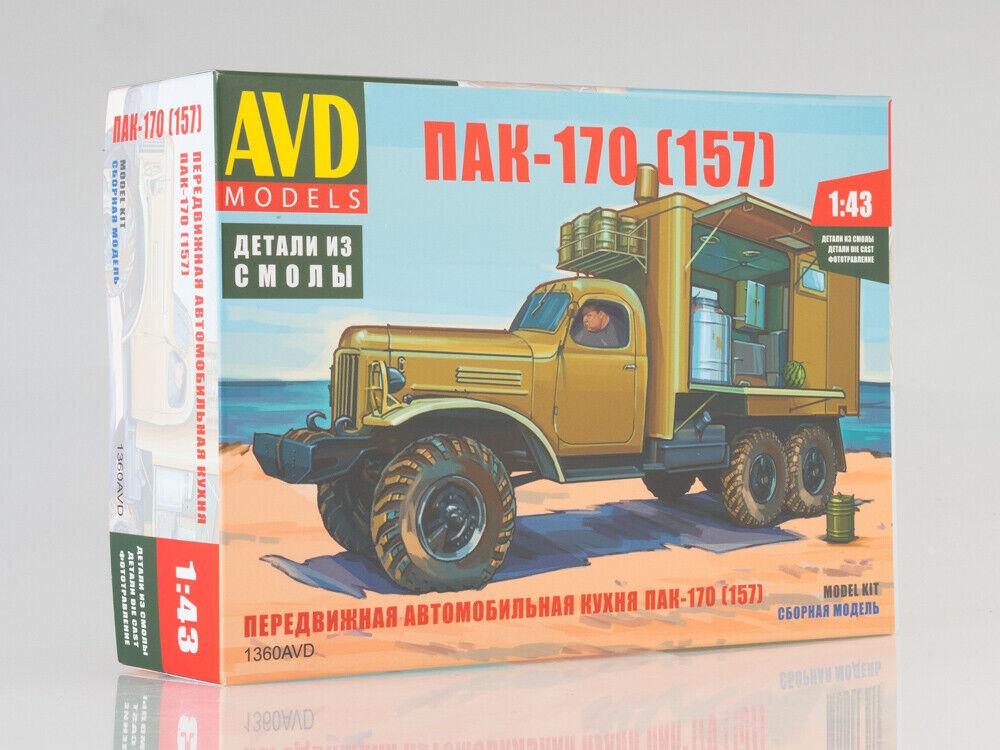 Cocina De Campo Soviética PAK-170 en chasis ZIL-157 1959 1 43 este cuadro Modelos 1360AVD