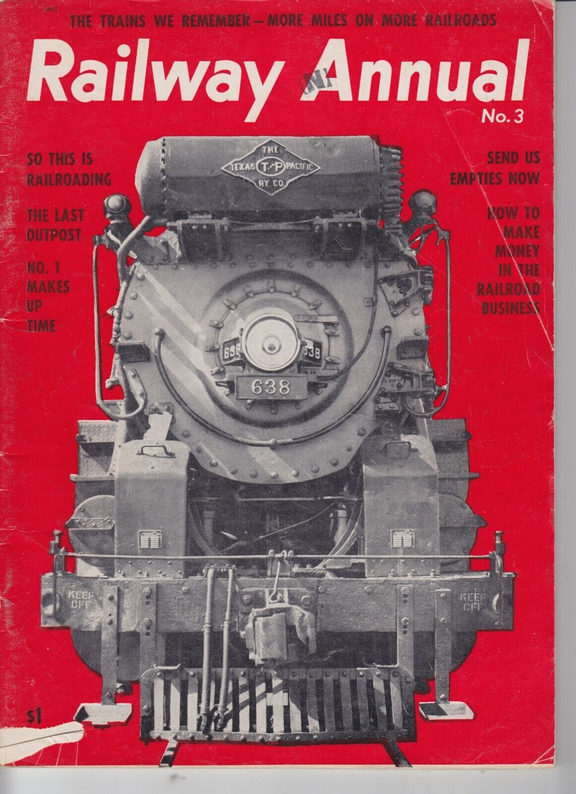 Image 1 - Railway Annual No. 3 The Trains We Remember Kalmbach Publishing 1954