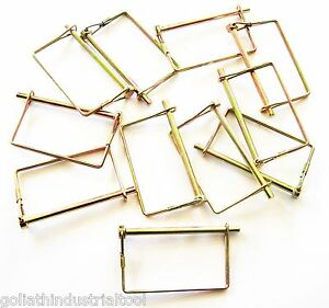 """10 GOLIATH EXTRA LONG 1/4"""" SQUARE CANOPY PTO TRAILER HITCH PINS LCPTC14 AWNING"""